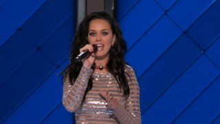 Katy Perry performs live at the DNC