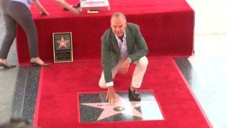Michael Keaton receives Walk of Fame star
