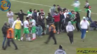 Brawl breaks out at Argentine soccer match