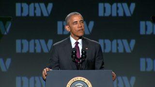 "Obama: I'm ""tired of some folks trash-talking America's military"""