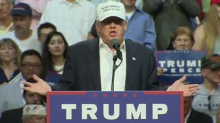 Trump appeals to voters at opposite political poles