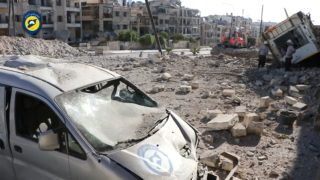 Aleppo hit hard again, hopes fades for truce