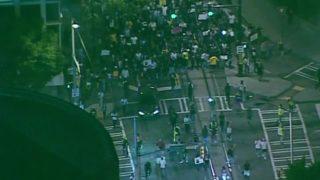 Protest in Atlanta over Charlotte shooting
