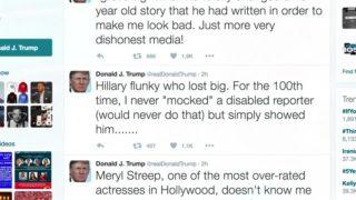 Trump tosses off a 3-tweet salvo at Streep