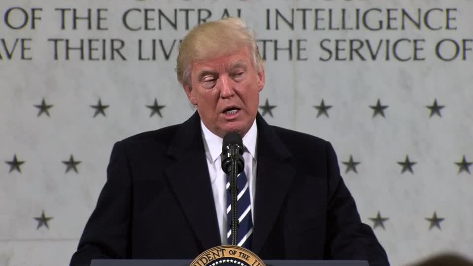 Trump vows his full support to CIA after feud about Russia hacking