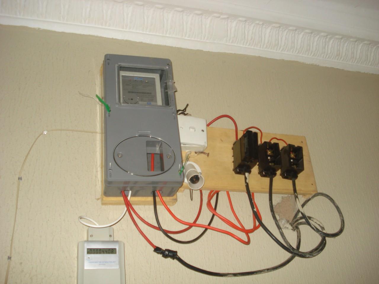 A prepaid meter in one of Nigerian Home //Photo: Sustain Nigeria
