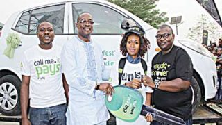 Specialist, Youth Market Segment, Etisalat Nigeria, Michael Nwoseh (left); Dean, Student Affairs, University of Calabar, Prof. Eyong Ubana Eyong; Winner of Cliqfest star prize, Ukama Violet; and Manager, Youth Market Segment, Etisalat Nigeria, Idiareno Atimomo during the Cliqfest campus activation at the University of Calabar, Cross Rivers State…recently.