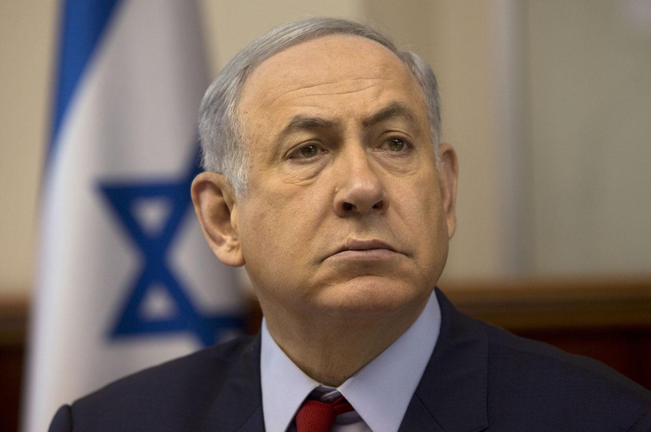 Israeli Prime Minister Benjamin Netanyahu.  / AFP / POOL / Sebastian Scheiner