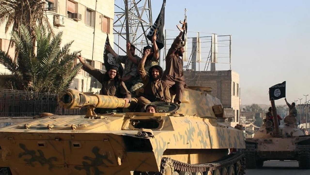 Islamic State (IS) group fighters established the capital of their self-declared caliphate in Raqa after seizing control of the northern Syrian city in 2014 (AFP Photo/)