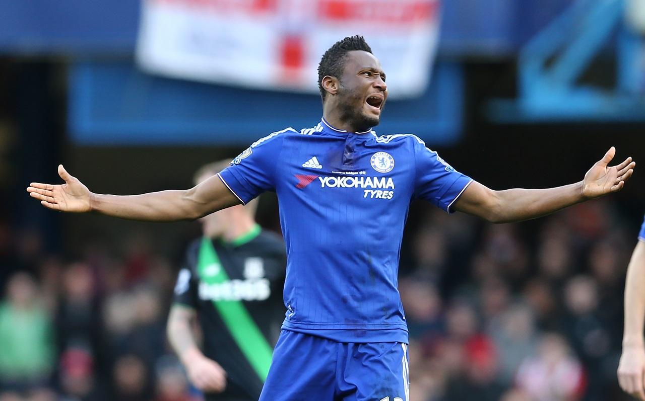 Chelsea's Nigerian midfielder John Obi Mikel