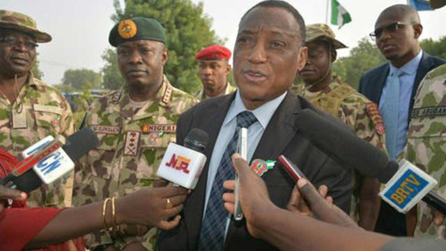 Defense Minister, Mansur Muhammad Dan-Ali