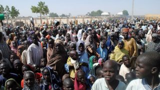 Internally Displaced Persons at Dikwa Camp, in Borno State in north-eastern Nigeria. PHOTO: AFP