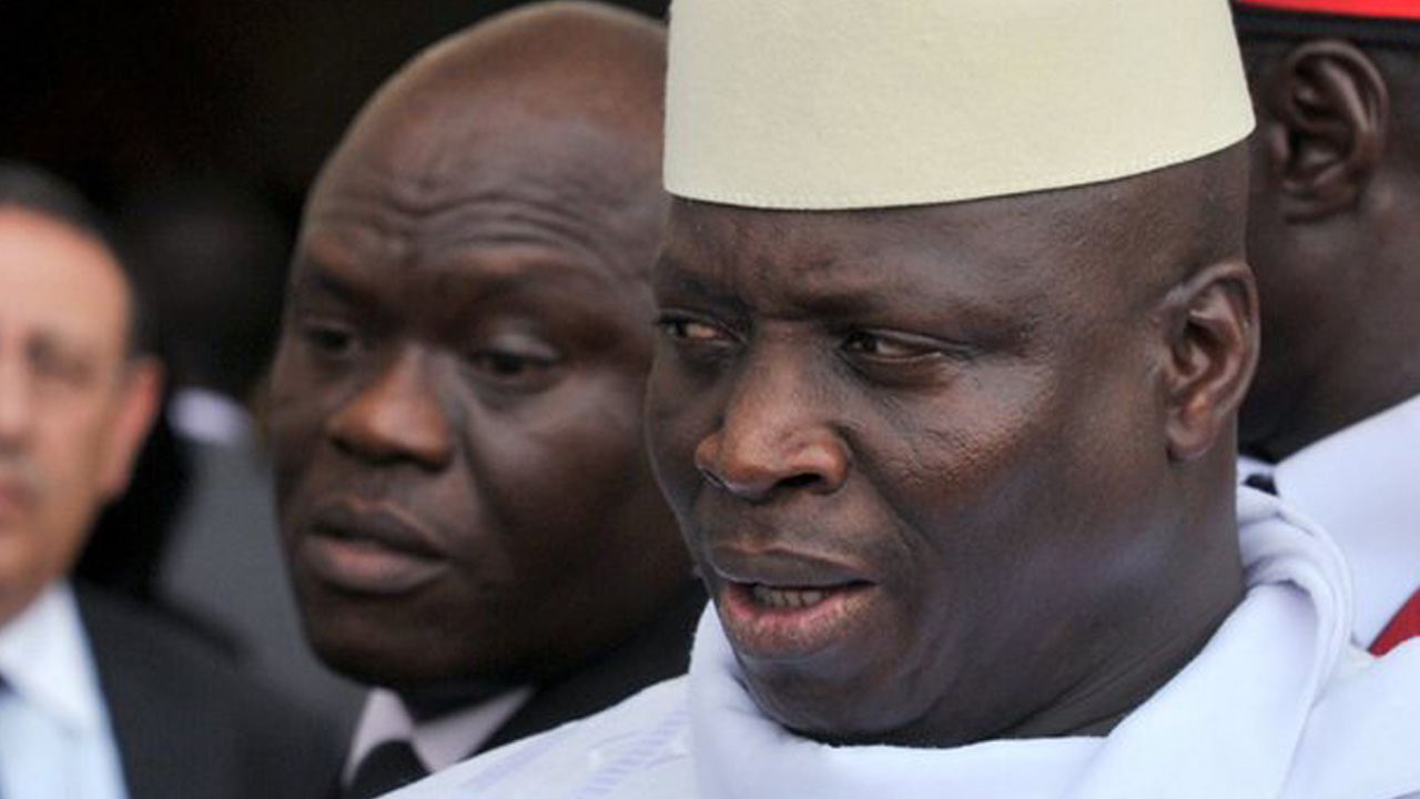 President Yahya Jammeh, pictured, is looking to the Arab world for support to replace western aid funding to the Gambia, according to critic Sidi Sanneh. Photograph: Issouf Sanogo/AFP/Getty Images
