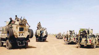 Soldiers of the Nigerian Army in Maiduguri.