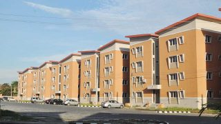 A housing estate in Lagos