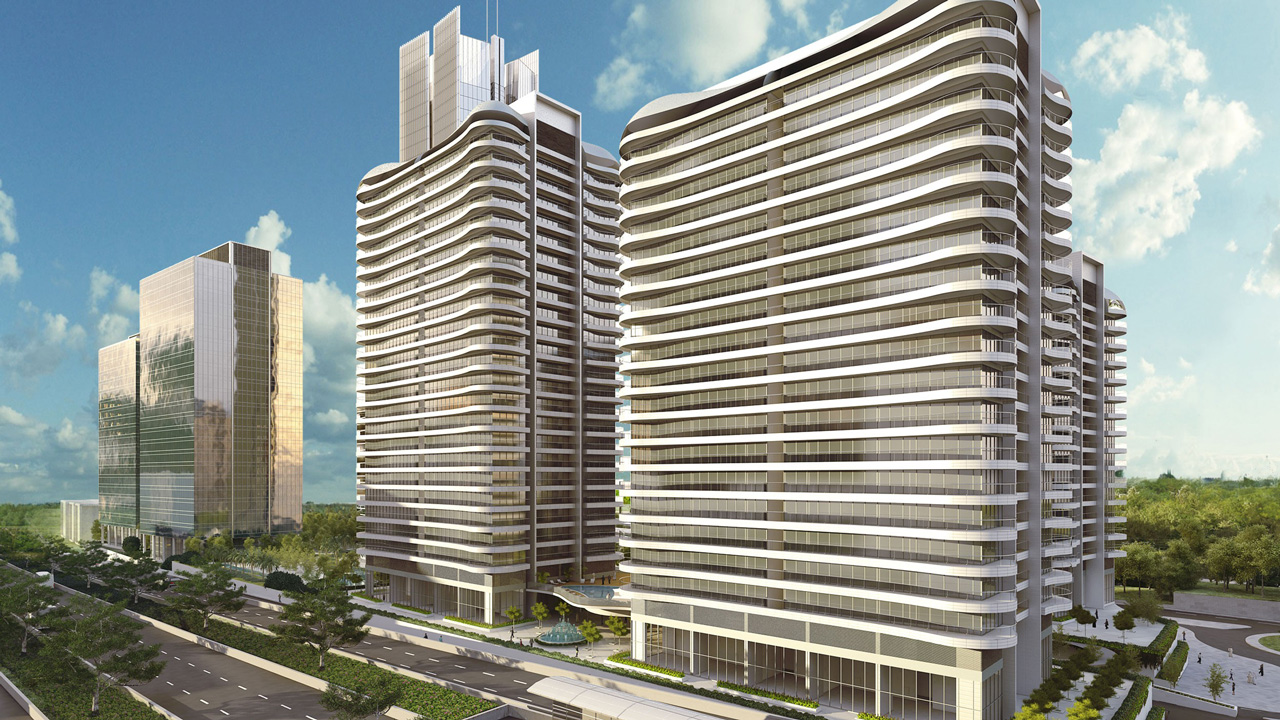 Illustration of the World Trade Centre Abuja residentail tower