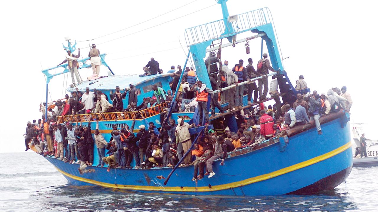 Africa migrants on their perilous journey across the Mediterranean