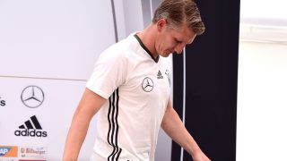 Germany's national football team midfielder Bastian Schweinsteiger.  / AFP PHOTO / PATRIK STOLLARZ
