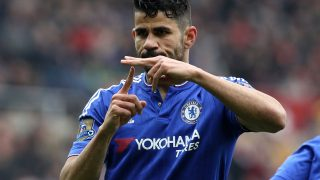 Chelsea's Brazilian-born Spanish striker Diego Costa / AFP PHOTO / LINDSEY PARNABY /