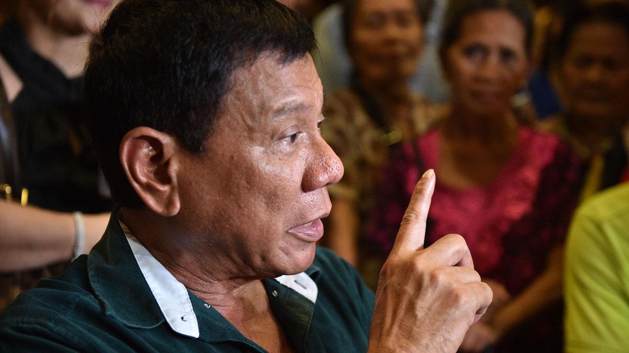 Philippine President-elect Rodrigo Duterte . / AFP PHOTO / TED ALJIBE