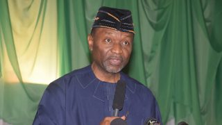 Minister Budget and National Planning, Sen. Udoma Udo Udoma making a remark during the 2016 Budget of Change Breakdown Presentation, held at the State House Conference Centre, Presidential Villa Abuja on Tursday, May 12, 2016. PHOTO: Philip Ojisua