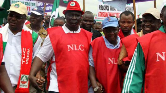 NLC, TUC during a protest.