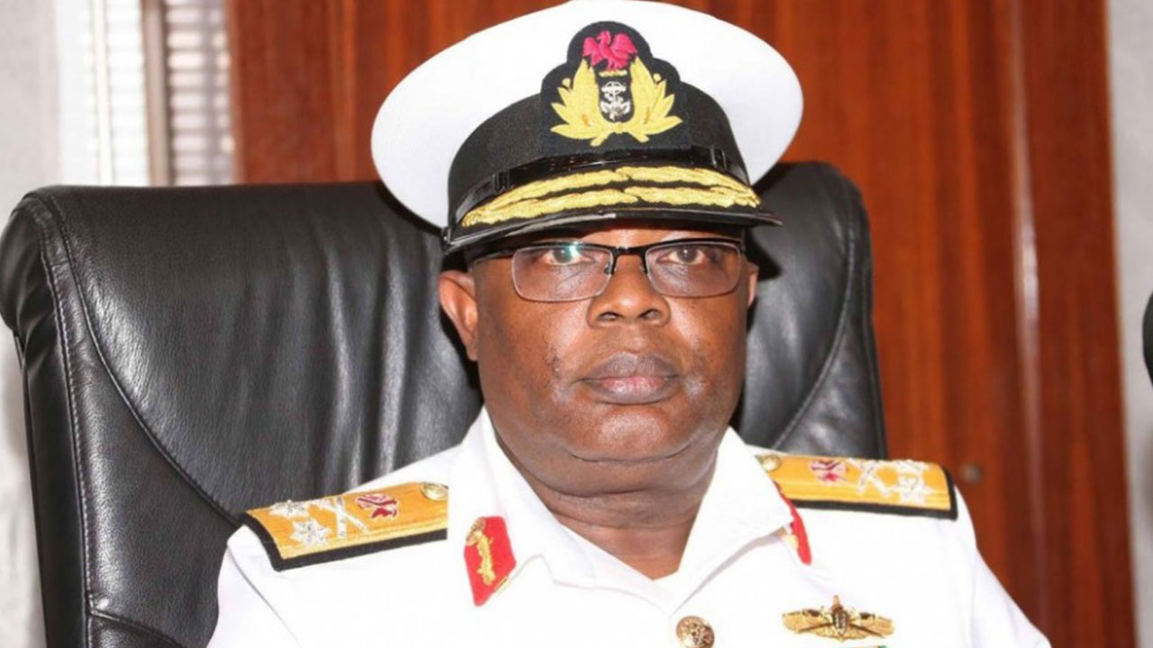 The Chief of Naval Staff (CNS), Vice Admiral Ibok Ibas
