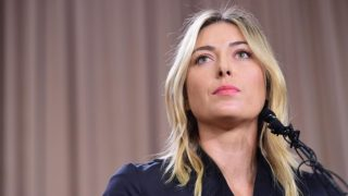 Russian tennis player Maria Sharapova.  / AFP / Robyn Beck        (Photo credit should read ROBYN BECK/AFP/Getty Images)