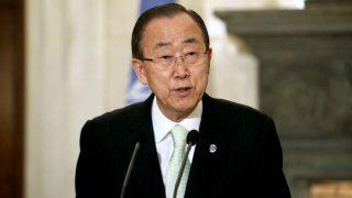 UN Secretary-General Ban Ki-moon . / AFP PHOTO / Eurokinissi / Yorgos KONTARINIS