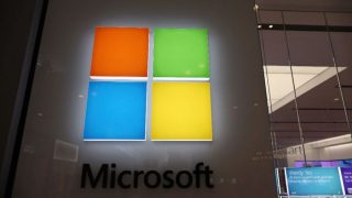 Microsoft. AFP Photo/Joe Raedle