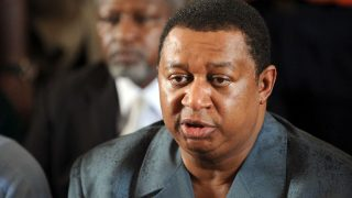 Mohammed Sanusi Barkindo, OPEC, Secretary General. PHOTO: PIUS ETOMI AKPEI/AFP