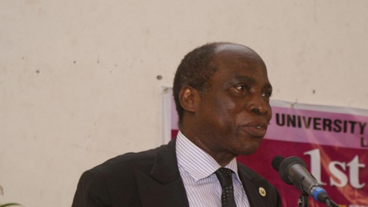 The Vice-Chancellor of the University, Prof. Rahamon Bello.