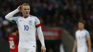 England's striker Wayne Rooney   / AFP PHOTO / Ian Kington
