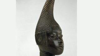 Bronze Head of Queen Idia, Benin Sixteenth century AD, on display at British Museum, London