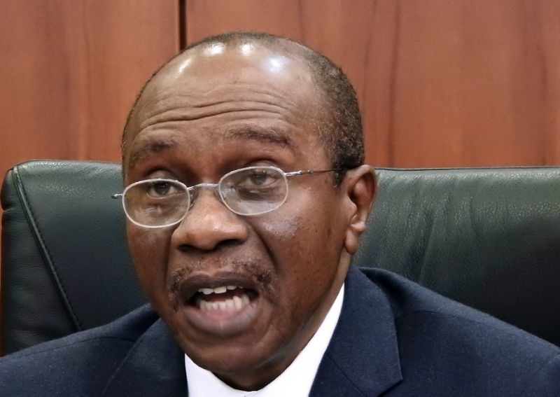 Central Bank of Nigeria's (CBN) governor Godwin Emefiele. / AFP PHOTO / PHILIP OJISUA