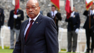 South African President Jacob Zuma.  / AFP PHOTO / FRANCOIS NASCIMBENI
