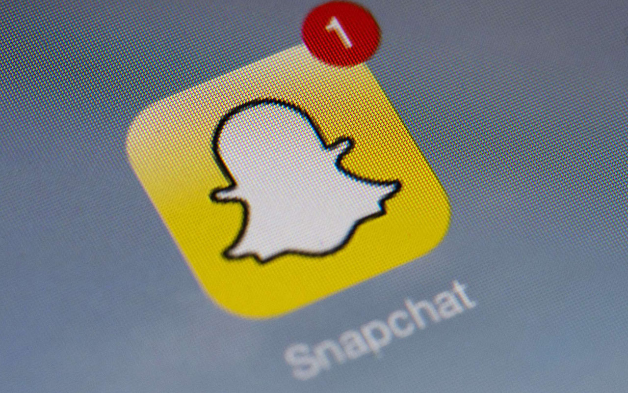 Snapchat app PHOTO:AFP