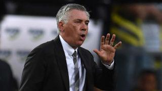 Bayern Munich's Italian head coach Carlo Ancelotti  / AFP PHOTO / PATRIK STOLLARZ /