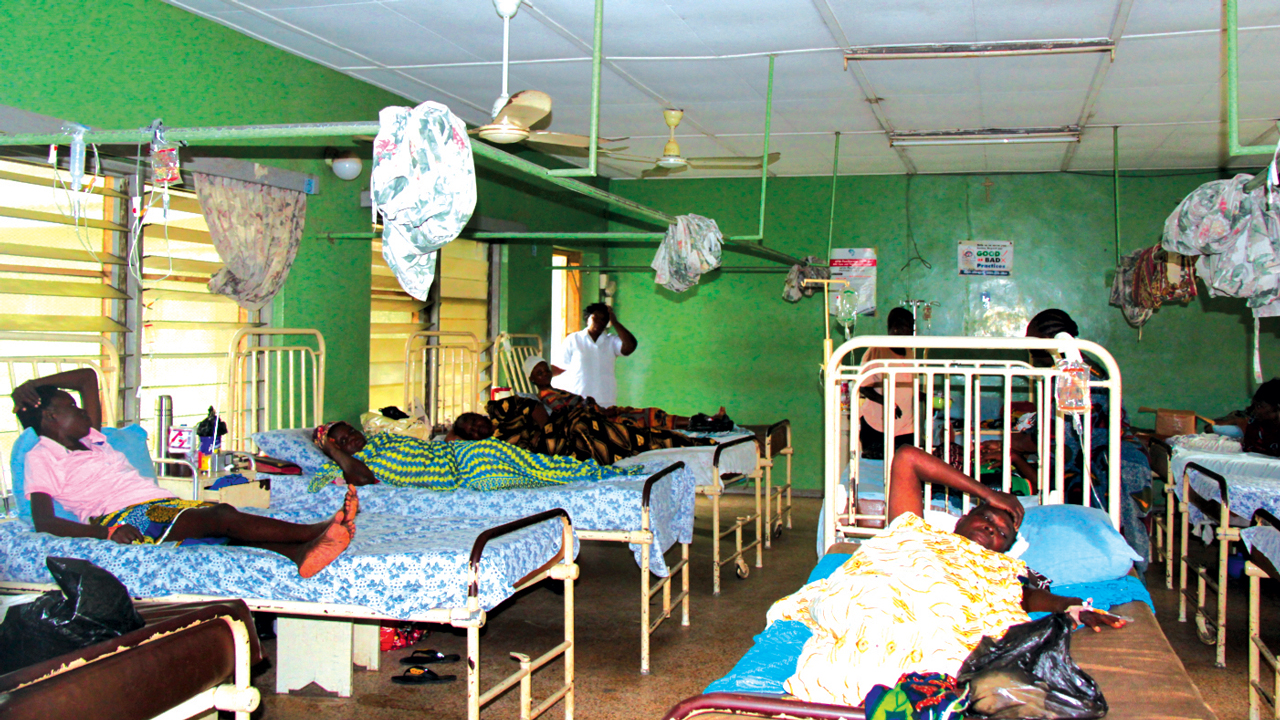 Patients in a hospital ward