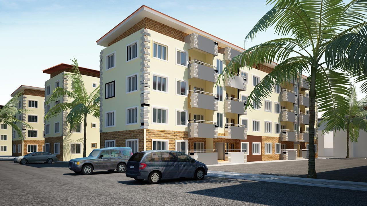 Illustration of a proposed estate that will increase the housing stock in Lagos