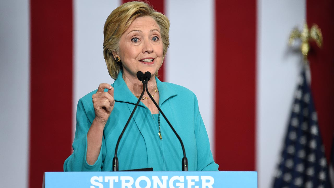 Democratic presidential candidate Hillary Clinton. PHOTO: JOSH EDELSON / AFP