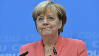 German Chancellor Angela Merkel/ AFP PHOTO / John MACDOUGALL