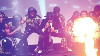 Dbanj performing at the event.