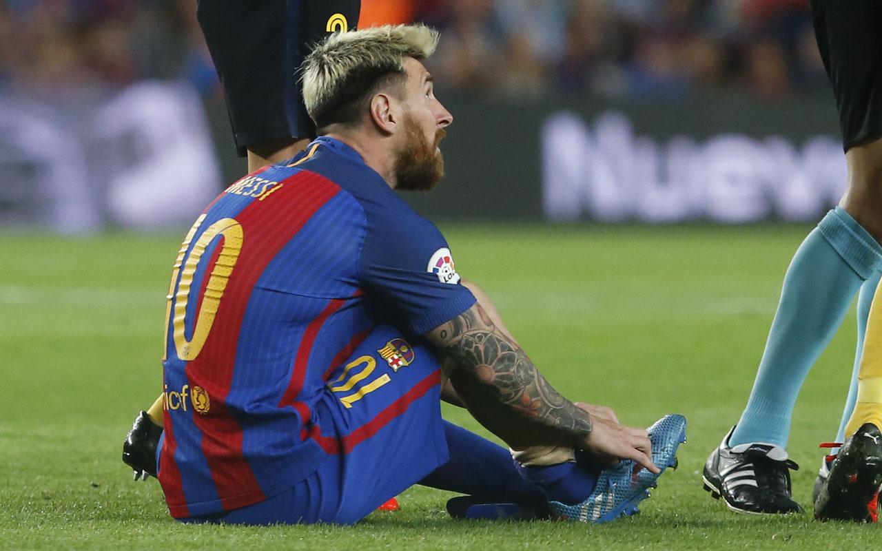 Barcelona's Argentinian forward Lionel Messi / AFP PHOTO / PAU BARRENA