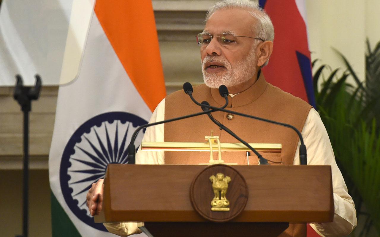 Indian Prime Minister Narendra Modi/ AFP PHOTO / PRAKASH SINGH