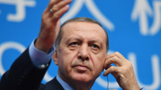 Turkey's President Recep Tayyip Erdogan / AFP PHOTO / GREG BAKER