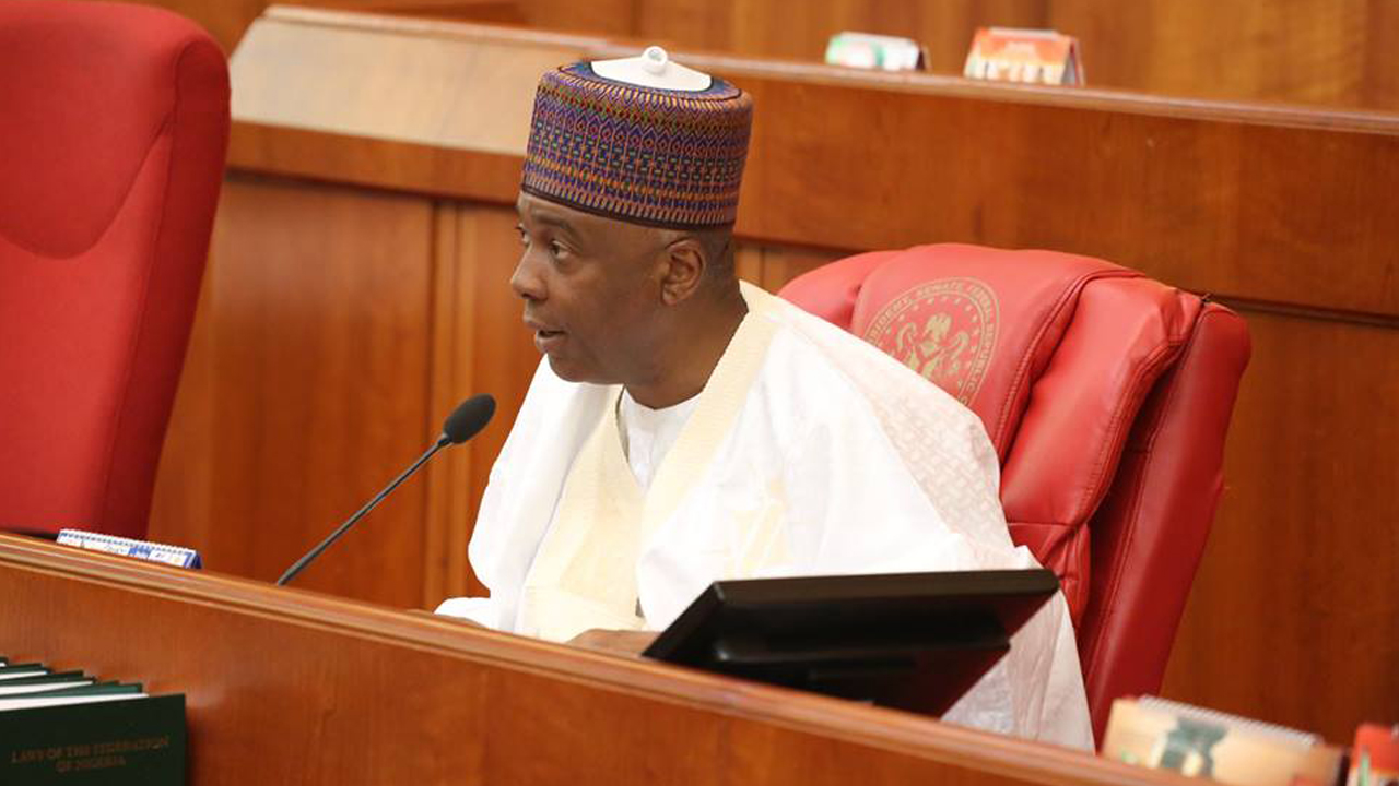Senate President  Bukola Saraki at the National Assembly  PHOTO: TWITTER/NIGERIAN SENATE