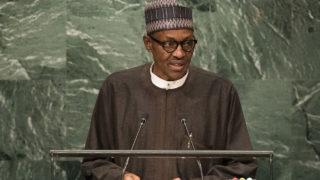 President of Nigeria Muhammadu Buhari. Drew Angerer/Getty Images/AFP