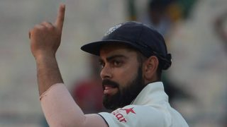 India's captain Virat Kohli gestures after victory on the fourth day of the second Test match between India and New Zealand at The Eden Gardens Cricket Stadium in Kolkata on October 3, 2016. ----IMAGE RESTRICTED TO EDITORIAL USE - STRICTLY NO COMMERCIAL USE----- / GETTYOUT Dibyangshu SARKAR / AFP