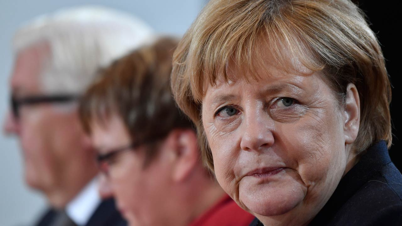 German Chancellor Angela Merkel attends a weekly meeting of the German cabinet at the chancellery in Berlin, on October 12, 2016. PHOTO: John MACDOUGALL / AFP